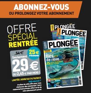 DERNIERS JOURS : Profitez de l'offre rentrée Plongée ...