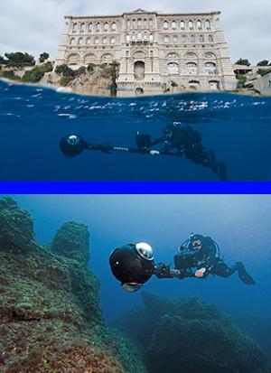 Avec Google Map et le Musée Océanographique de Monaco
