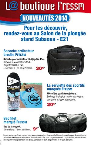Nouveautés 2014/Boutique FFESSM