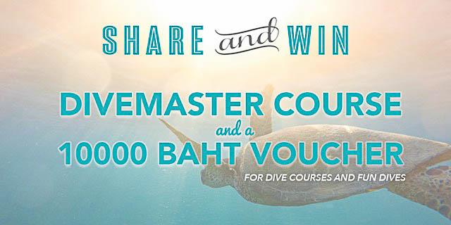 Concours facebook - Gagnez un cours de divemaster et 10000 baht de bon d'achat