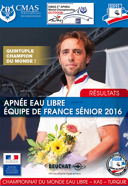 Rencontrez nos médaillés sportifs FFESSM  2016 :  Apnée, Nage avec palmes, Photo&Vidéo, tir sur Cible, et Hockey subaquatique.
