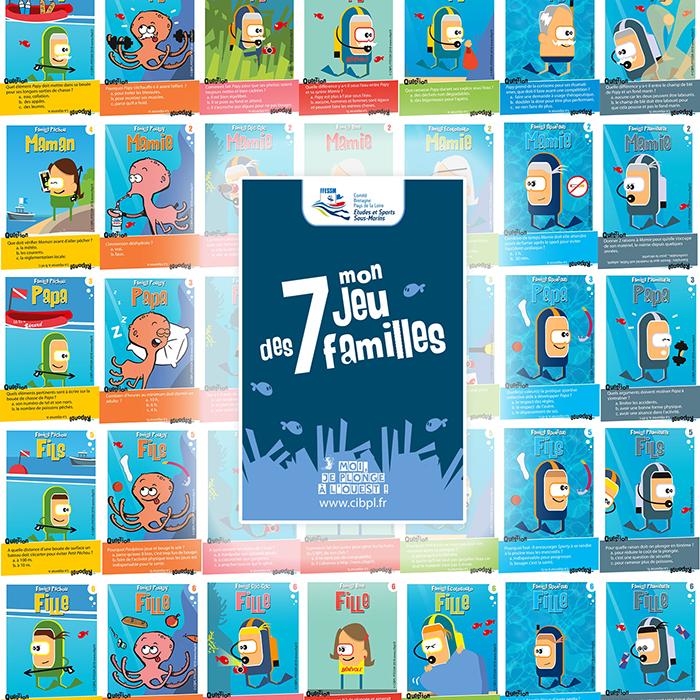Grand jeu des 7 familles sur le stand