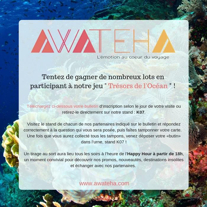Awateha vous propose de nombreux lots : jeu «Trésors de l'Océan»