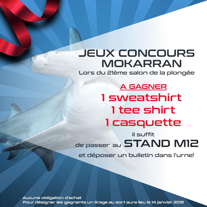 Jeux concours sans obligation d'achat sur le stand Mokarran