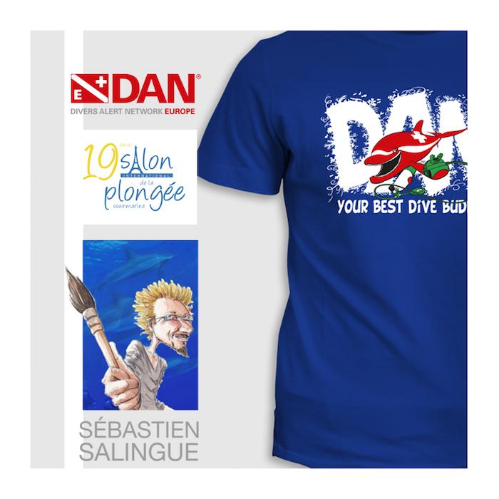 T-Shirt DAN et dédicace de Sébastien Salingue