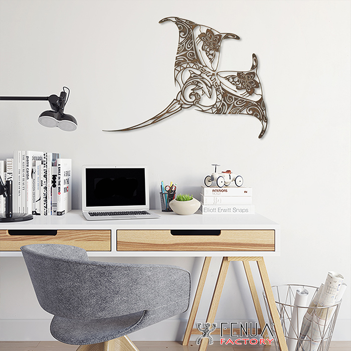 Sculpture design MANTA by Pierre Martinez - Fenua Factory