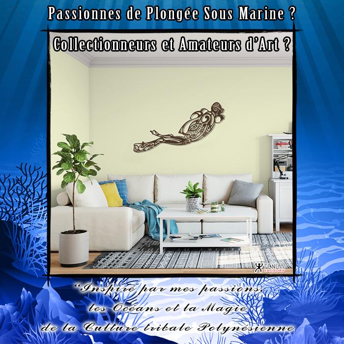 Sculpture design Plongeur