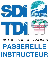 Passerelle moniteur > OWSI SDI Scuba Diving International