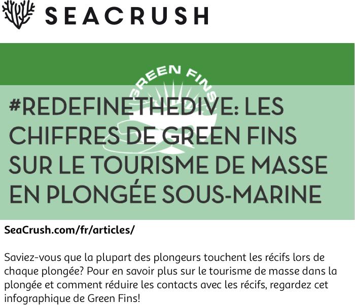 #RedefineTheDive: les chiffres de Green Fins sur le tourisme de masse en plongée sous-marine