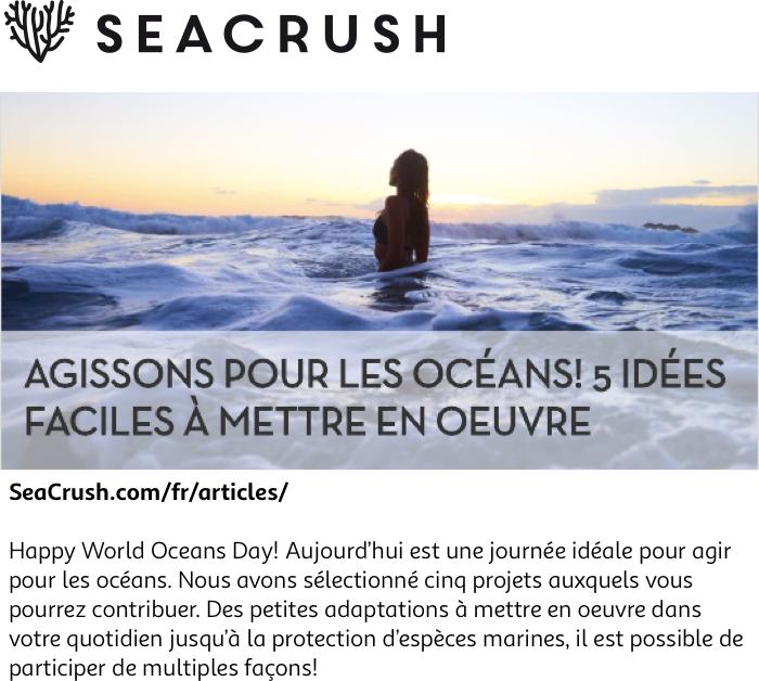 Agissons pour les océans! Cinq idées faciles à mettre en ...