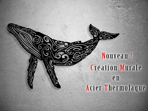 Nouvelle création murale en métal la