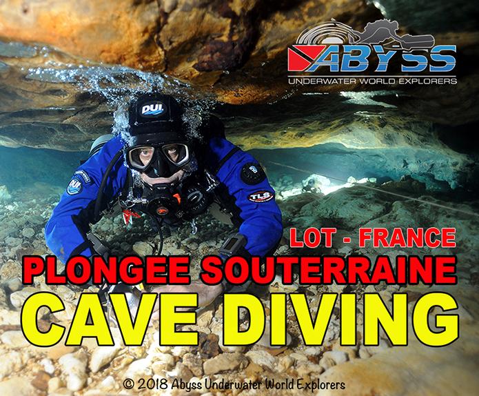 Stages de plongée souterraine dans le Lot