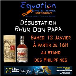 dégustation Rhum Don Papa