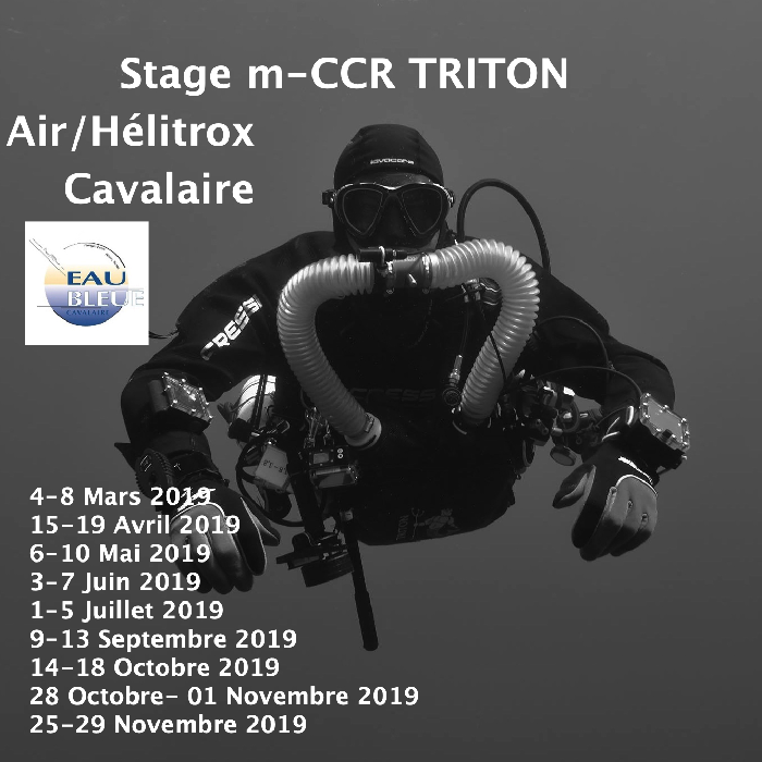 Formations recycleur Air diluant sur m-CCR Triton