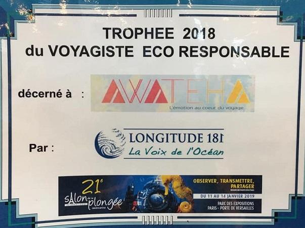 Trophée du voyagiste éco-responsable !