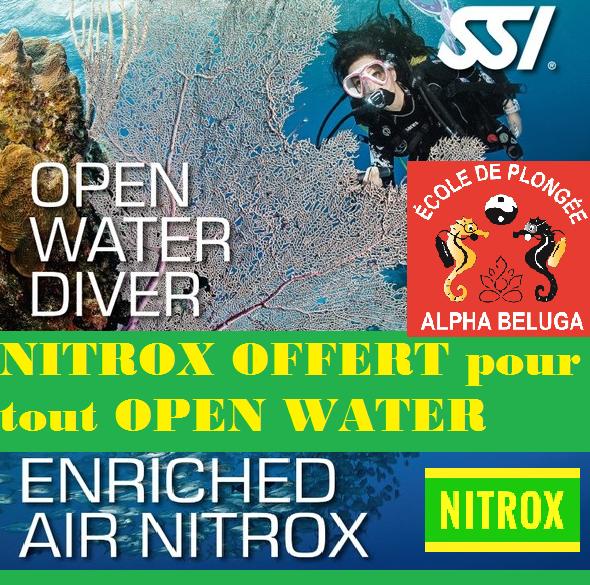 Formation NITROX offerte pour tout Open Water réservé