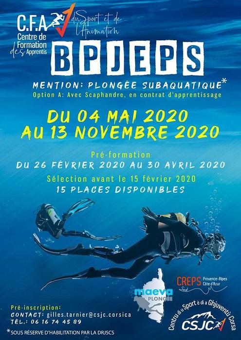 En 2020 venez vous former en Corse pour votre BPJEPS ...