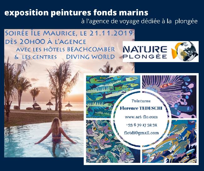 Exposition peintures chez NATURE PLONGEE