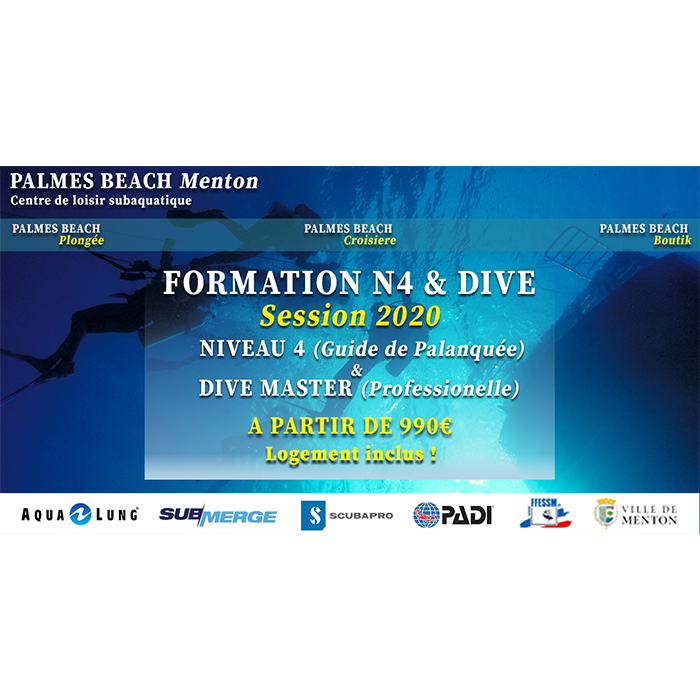 FORMATION N4 & DIVEMASTER / SAISON 2020
