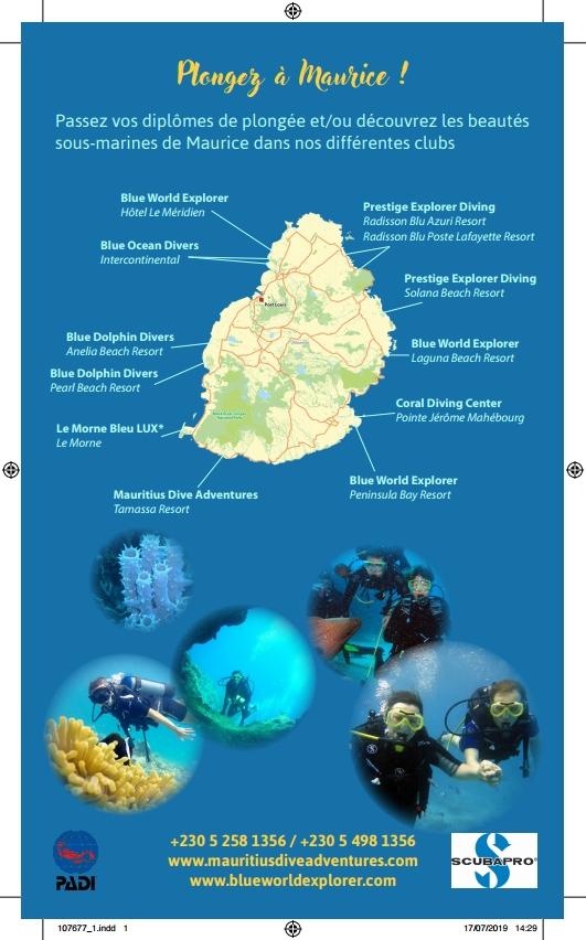 PLONGEE AVEC BLUE WORLD EXPLORER MAURITIUS