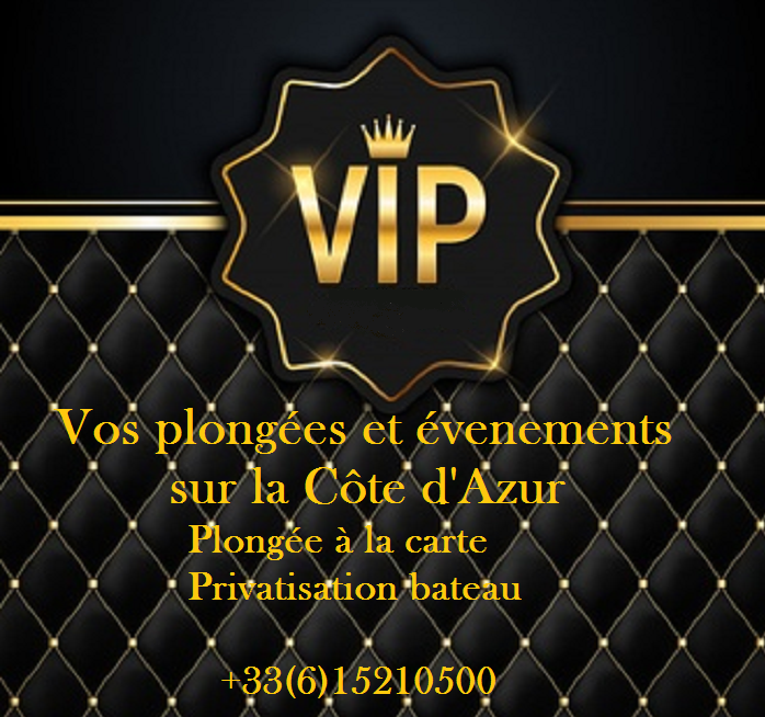 PLONGEE VIP COTE d'AZUR - PLONGEE A LA CARTE