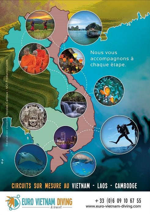 Nos promotions sur nos circuits plongée + tourisme Vietnam - Cambodge - Laos