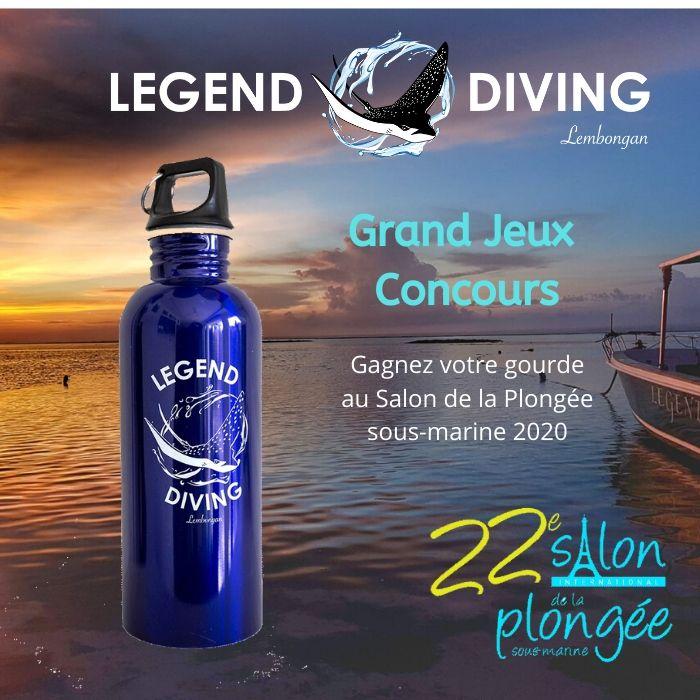 GAGNER VOTRE GOURDE LEGEND AU SALON DE LA PLONGEE 2020