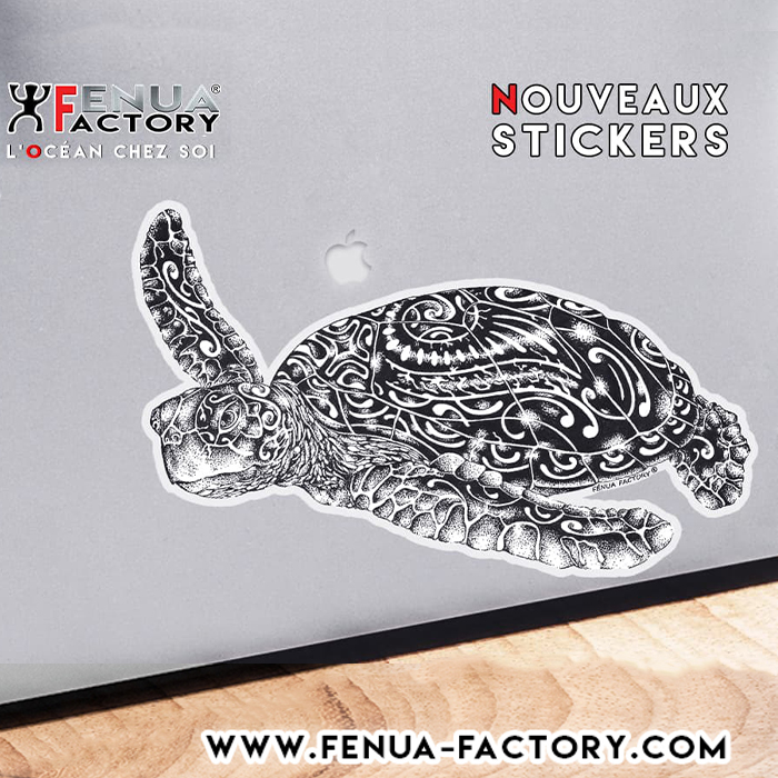 La nouvelle collection de Stickers continue avec la Tortue marine sur Fenua-factory