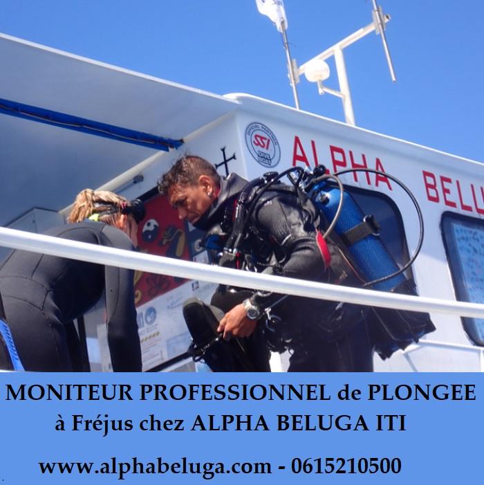 MONITEUR PROFESSIONNEL de PLONGEE SOUS-MARINE Fréjus avec ALPHA BELUGA