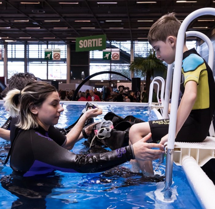 Profitez du Salon pour faire découvrir la plongée à vos proches !