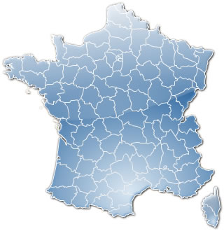 carte départements france